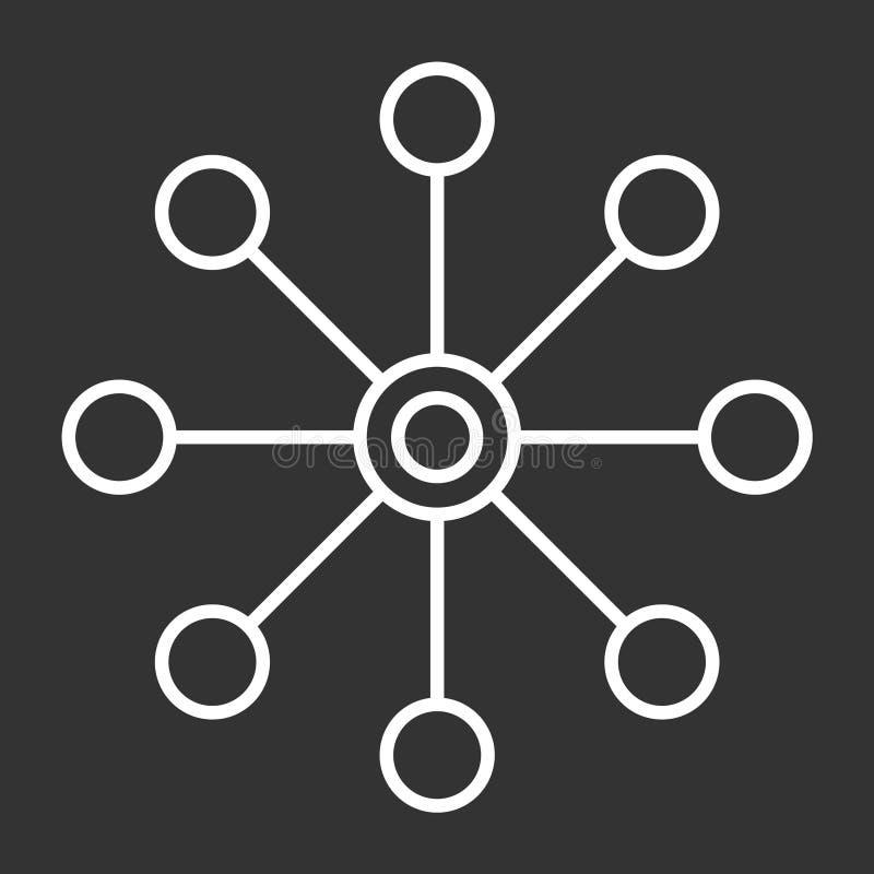 Vector de varios canales aislada icono en el fondo oscuro, diseño de varios canales del logotipo ilustración del vector