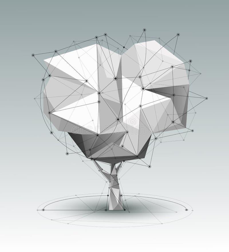 Vector de verbindingstechnologie van het ontwerpnetwerk op heldere lichtgrijze achtergrond vector illustratie