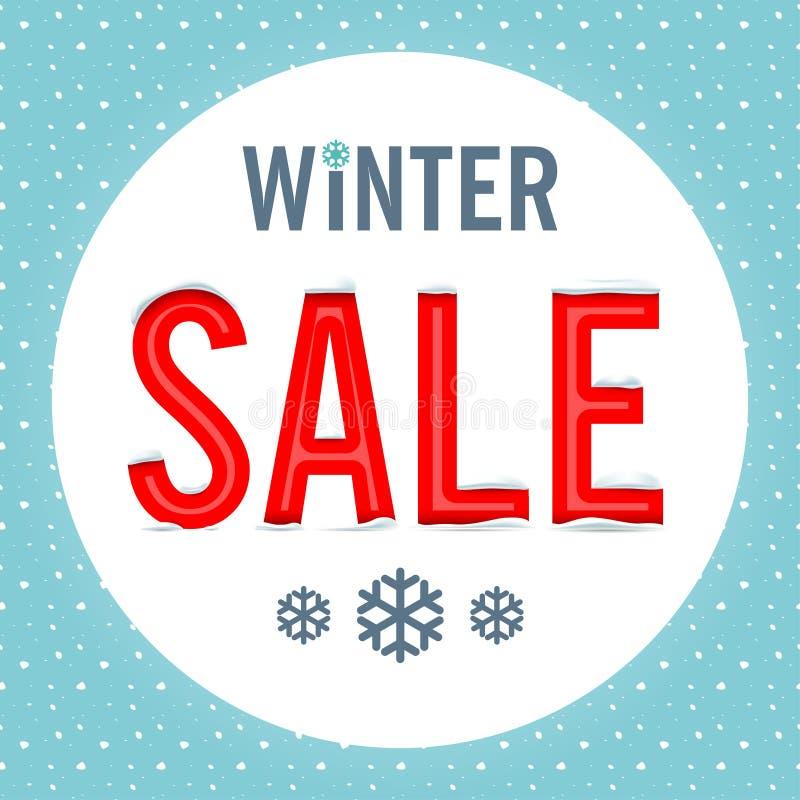 Vector De verkoop van de winter stock afbeeldingen