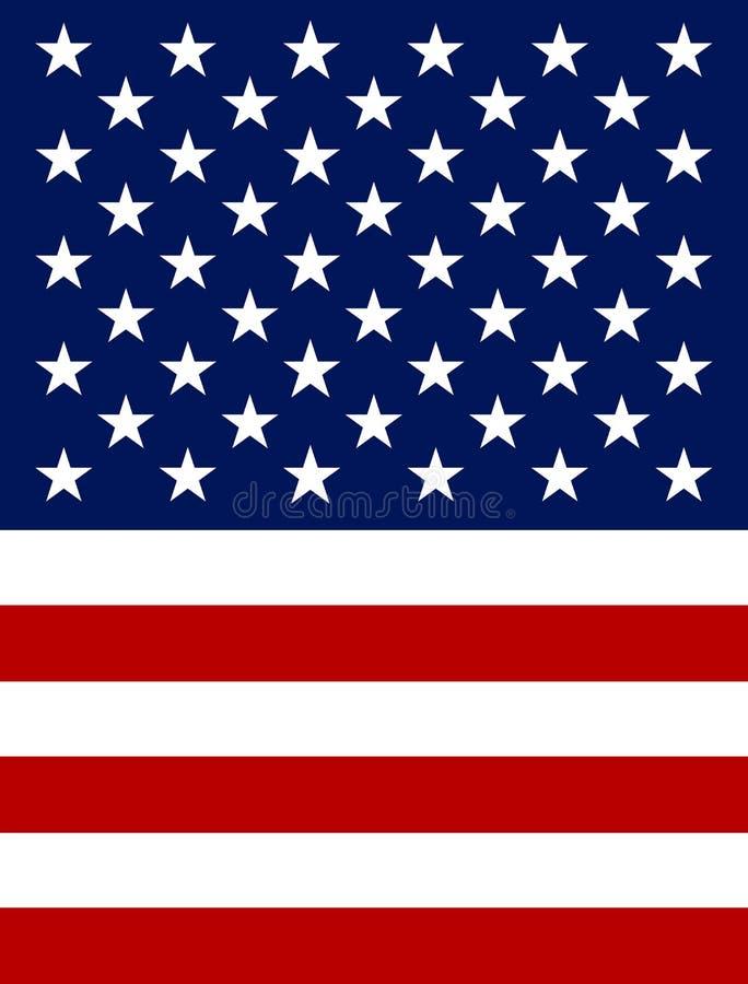 Vector de Vlagpictogram van de V.S. vector illustratie
