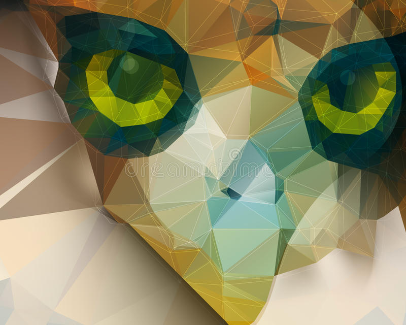 Vector de vogel abstracte achtergrond van de veelhoekvorm stock illustratie