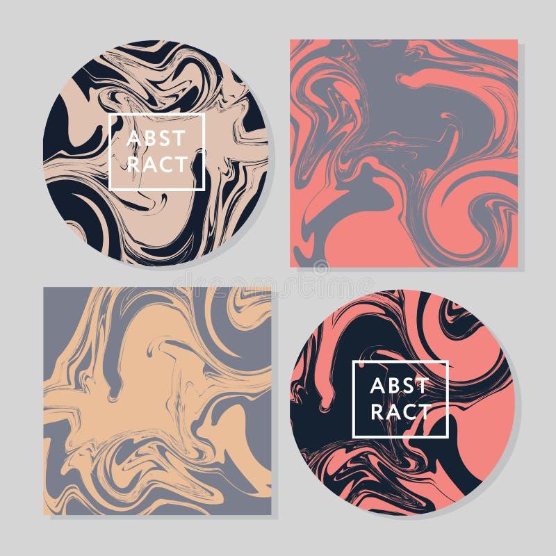 Vector de waterverfhand getrokken marmerende illustratie van de Inkttextuur, abstracte achtergrond, aquadruk vector illustratie