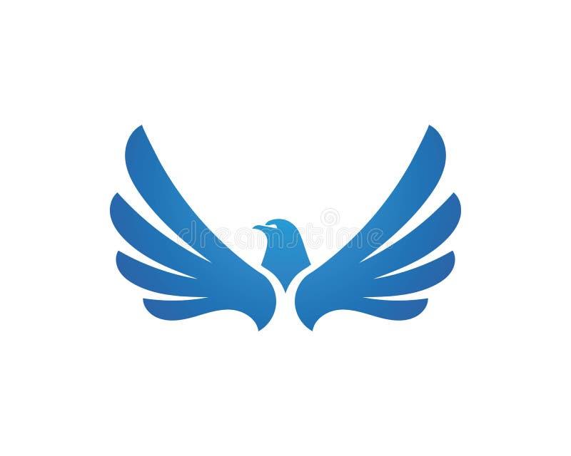 Vector de Wing Falcon Logo Template stock de ilustración
