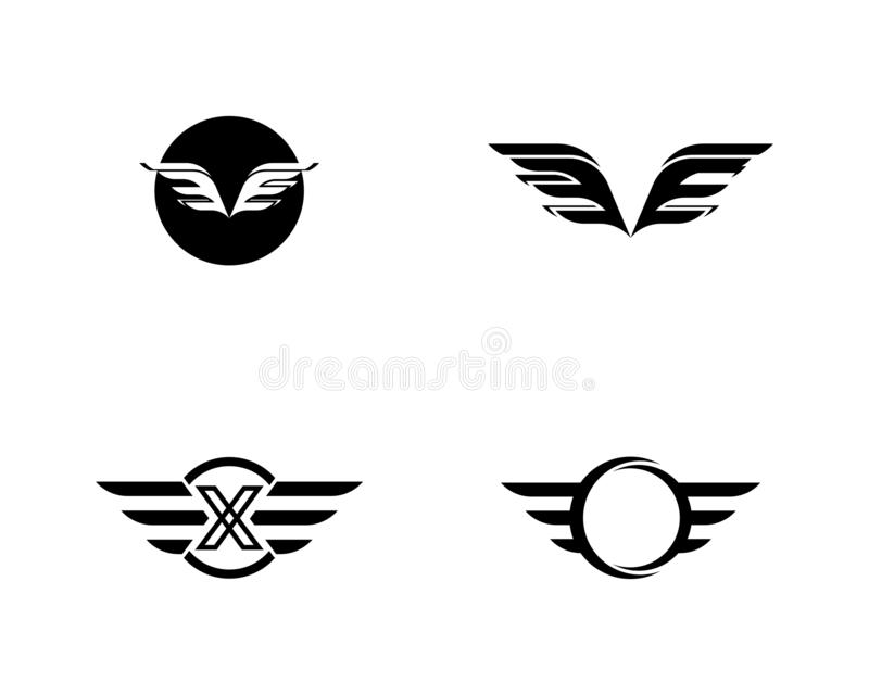 Vector de Wing Logo Template del halc?n libre illustration