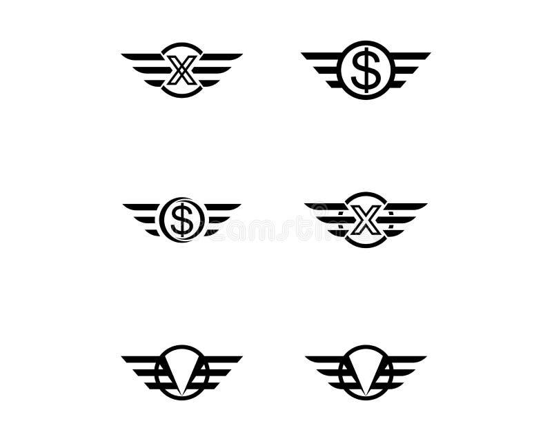 Vector de Wing Logo Template del halc?n stock de ilustración