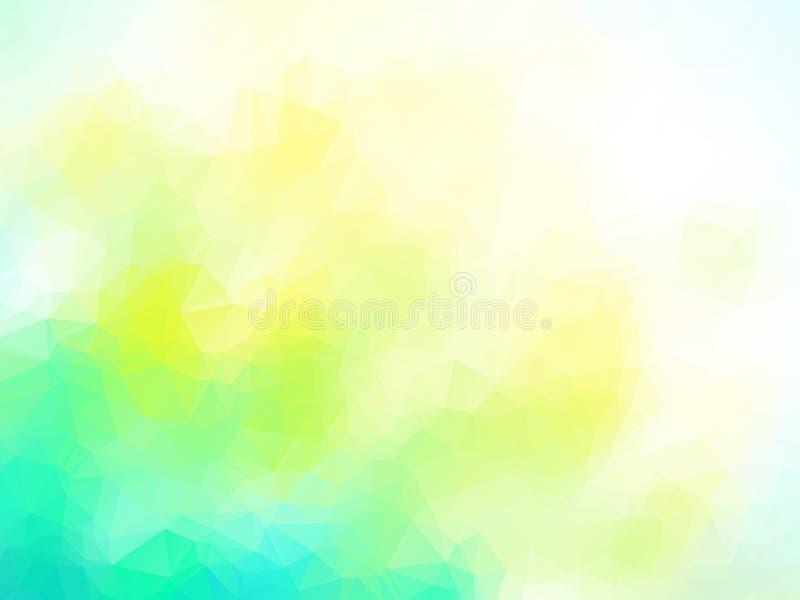 Vector de zomer blauw geelgroen geometrisch patroon vector illustratie