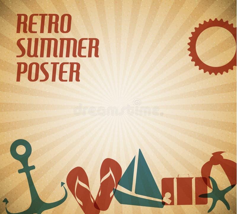 Vector de zomeraffiche vector illustratie