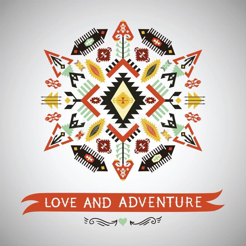 Vector decoratief element op inheemse stijl royalty-vrije illustratie