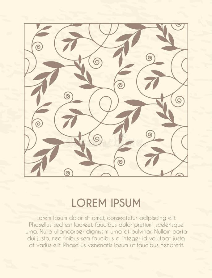 Vector decoratief frame Doorboor bloemengrens royalty-vrije stock afbeeldingen