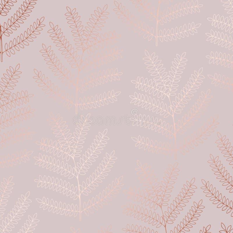 Vector decoratieve achtergrond met imitatie van roze goud vector illustratie