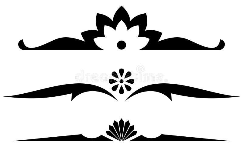 Vector Decoratieve Regels vector illustratie