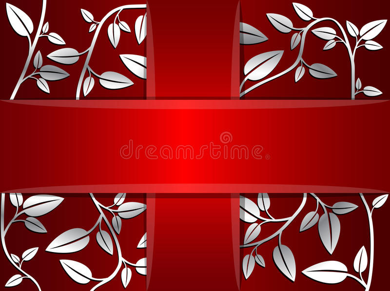Vector decorative card royalty free stock photo