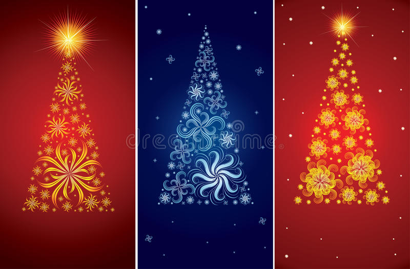 Download Vector Decorative Christmas Tree Backgrounds Stock Vector - Illustration of season, greeting: 16920912