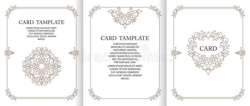 Vector decorative frame or birthday and greeting card, wedding invitation. stock photo