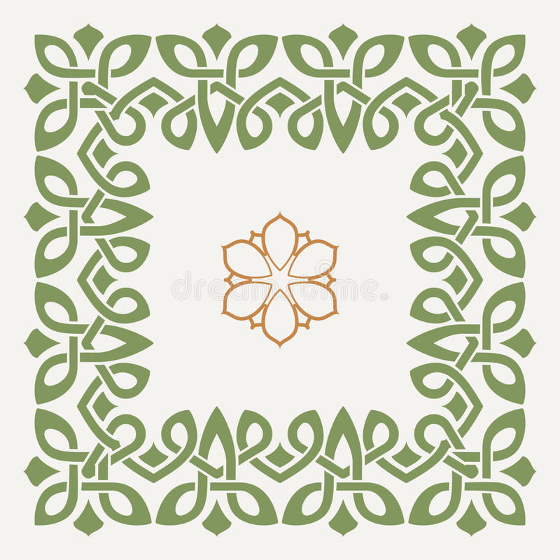 Vector decorative frame in the Celtic style royalty free illustration
