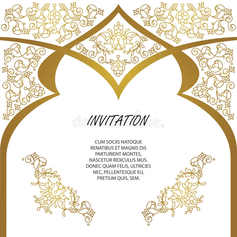 Vector decorative frame. Elegant element for design template. royalty free stock images