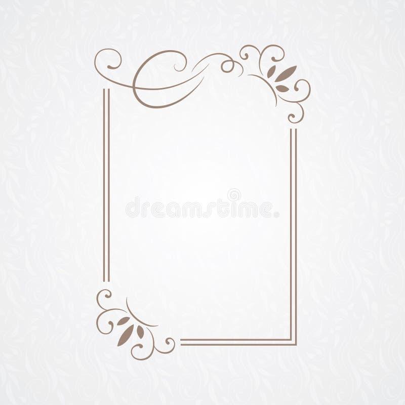 Vector decorative frame. Elegant element for design template. royalty free stock image