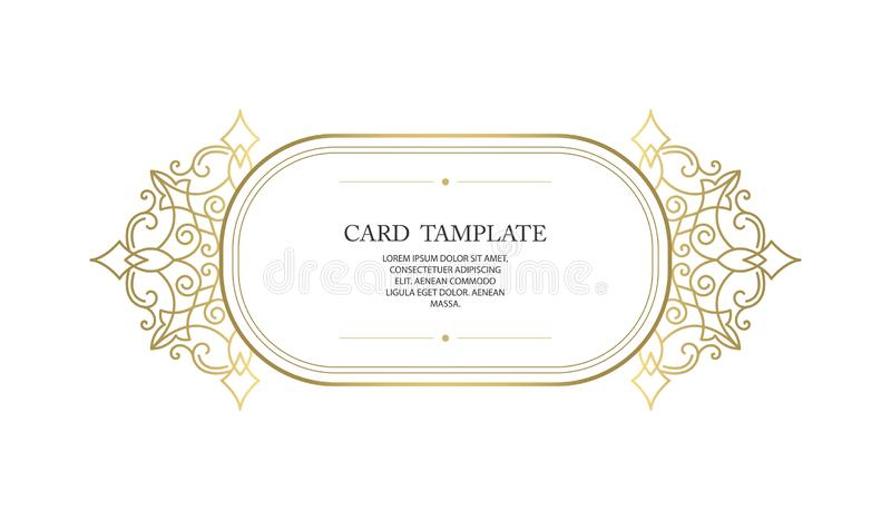Vector decorative frame or birthday and greeting card, wedding invitation. stock photography