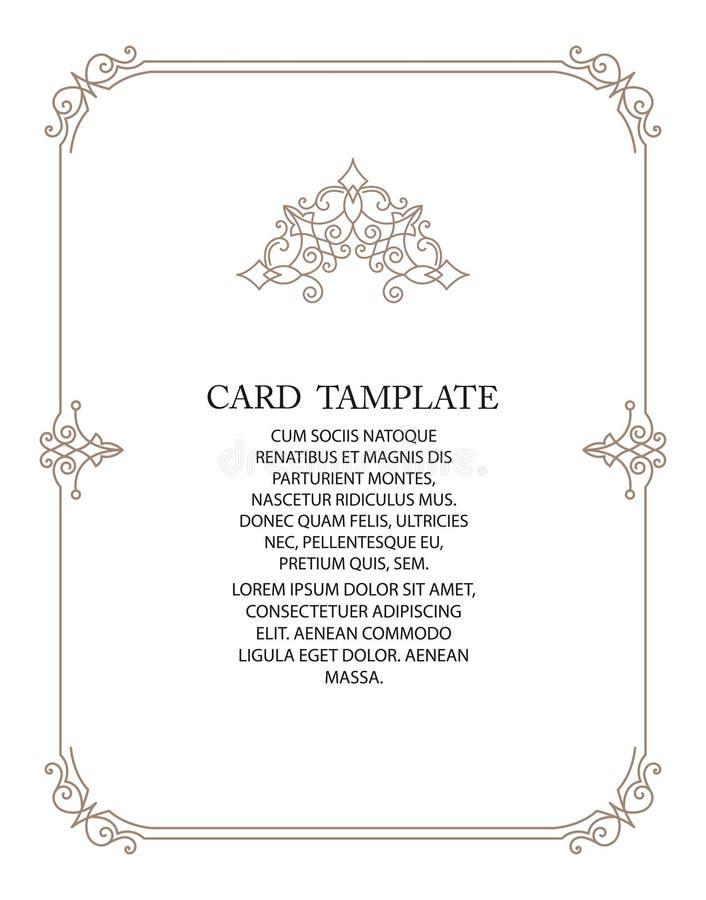 Vector decorative frame or birthday and greeting card, wedding invitation. royalty free stock photos