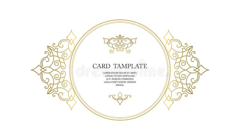 Vector decorative frame or birthday and greeting card, wedding invitation. royalty free stock images