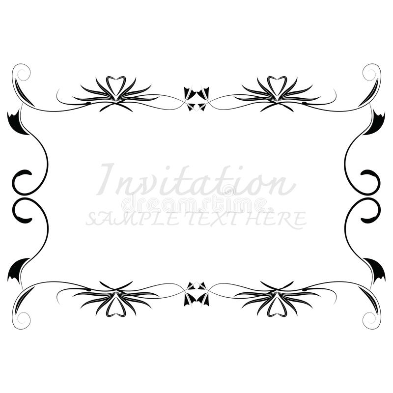 Vector decorative frames royalty free illustration