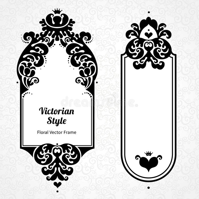 Vector Decorative Frames In Victorian Style. Stock Vector ...