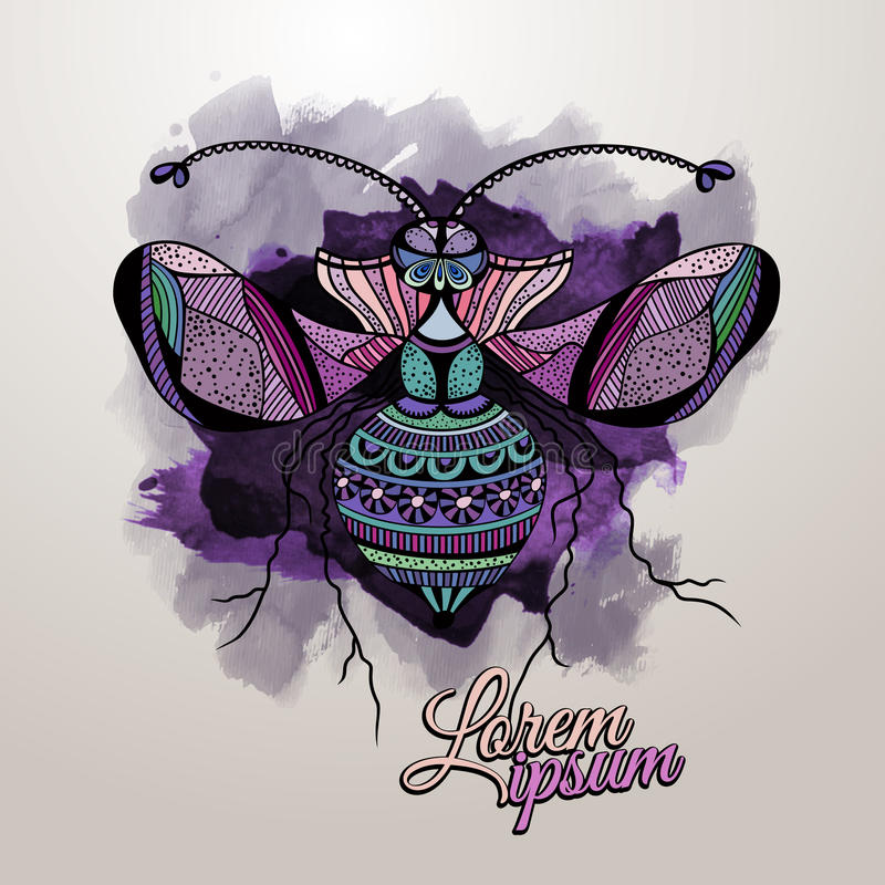 Vector decorative insect butterfly royalty free illustration