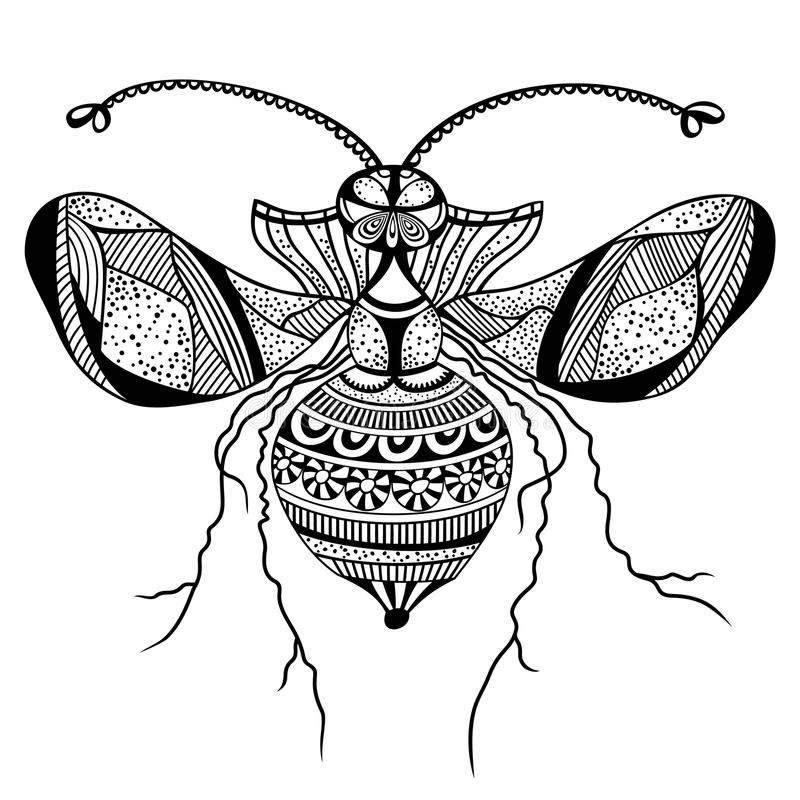 Vector decorative insect butterfly stock illustration