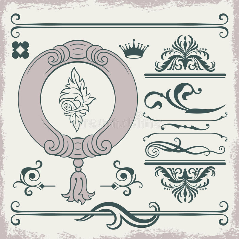 Vector decorative items stock illustration