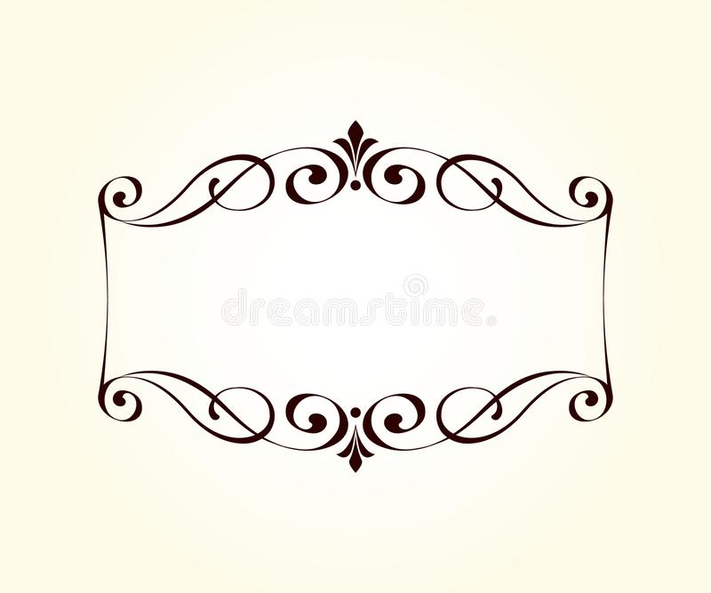 Vector decorative retro frame .Place for text. stock illustration