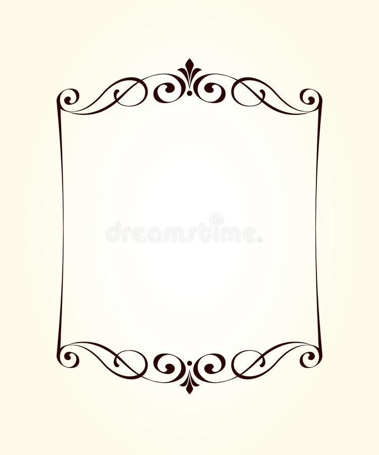 Vector decorative retro frame .Place for text. royalty free illustration