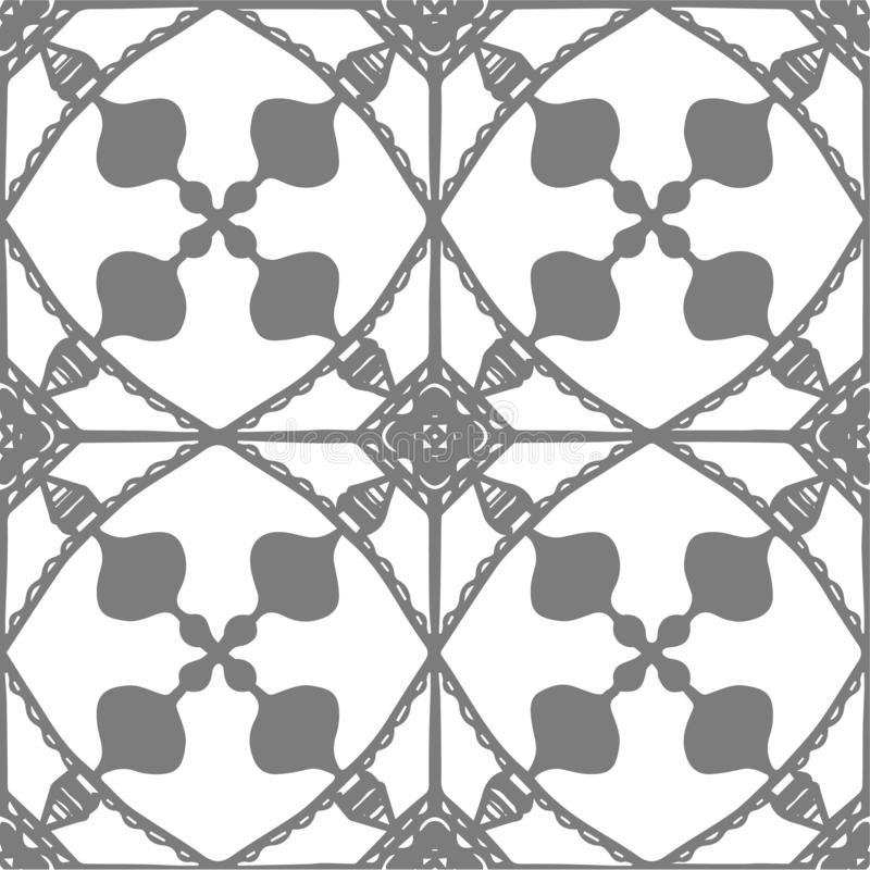 Vector decorative seamless hand drawn pattern. royalty free stock photography