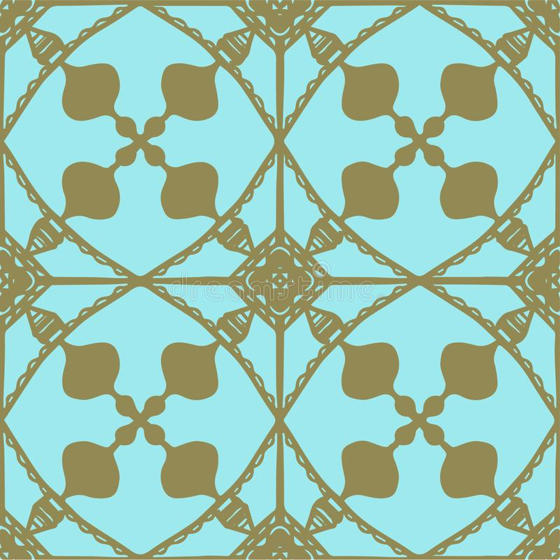 Vector decorative seamless hand drawn pattern. royalty free stock image
