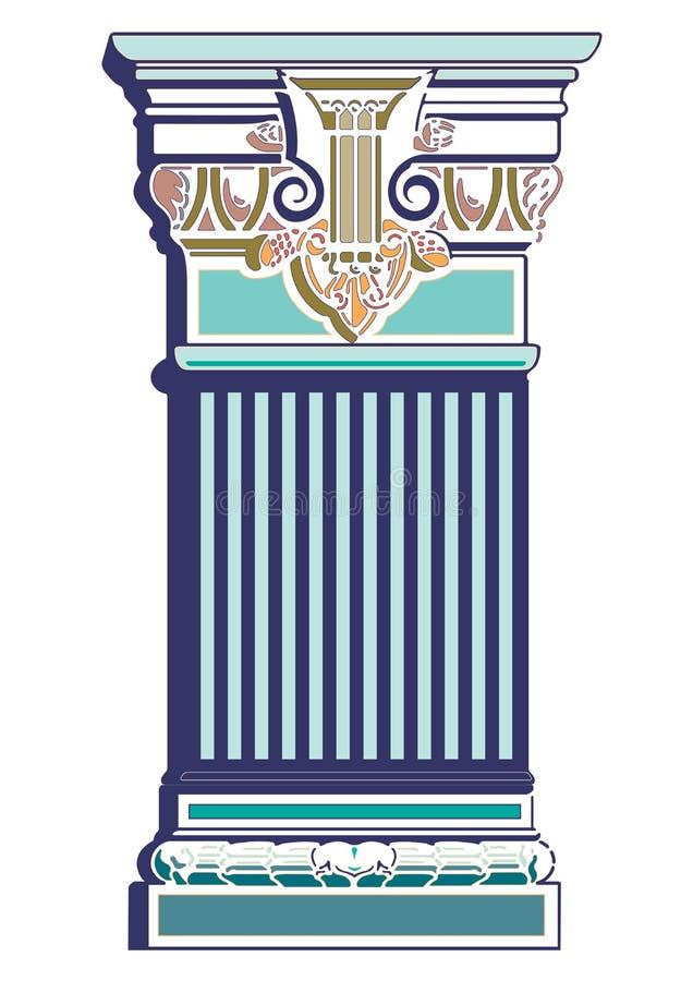 Vector decorativo griego de la columna del viejo arte cl?sico ilustración del vector