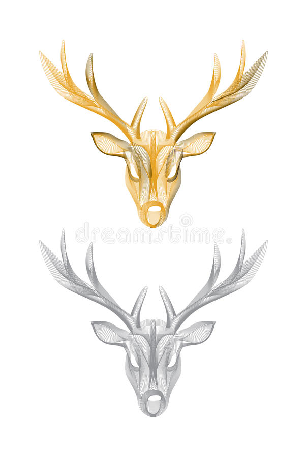 Vector deer head isolated royalty free illustration