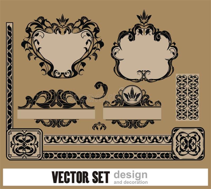 Vector Dekorationset Lizenzfreie Stockfotos