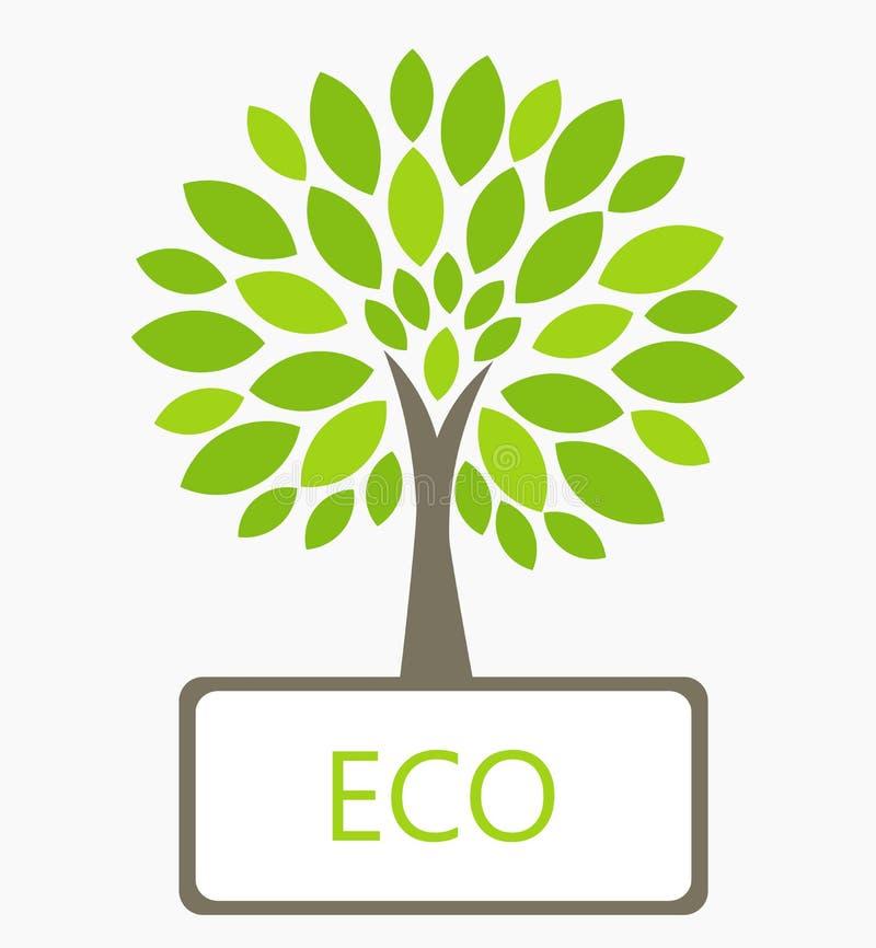 Vector del árbol de Eco ilustración del vector