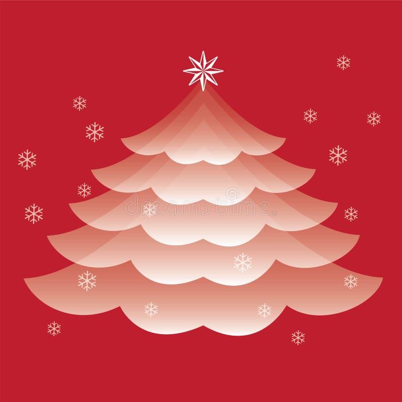 Vector del árbol de navidad foto de archivo libre de regalías