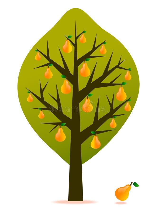 Vector del árbol de pera ilustración del vector