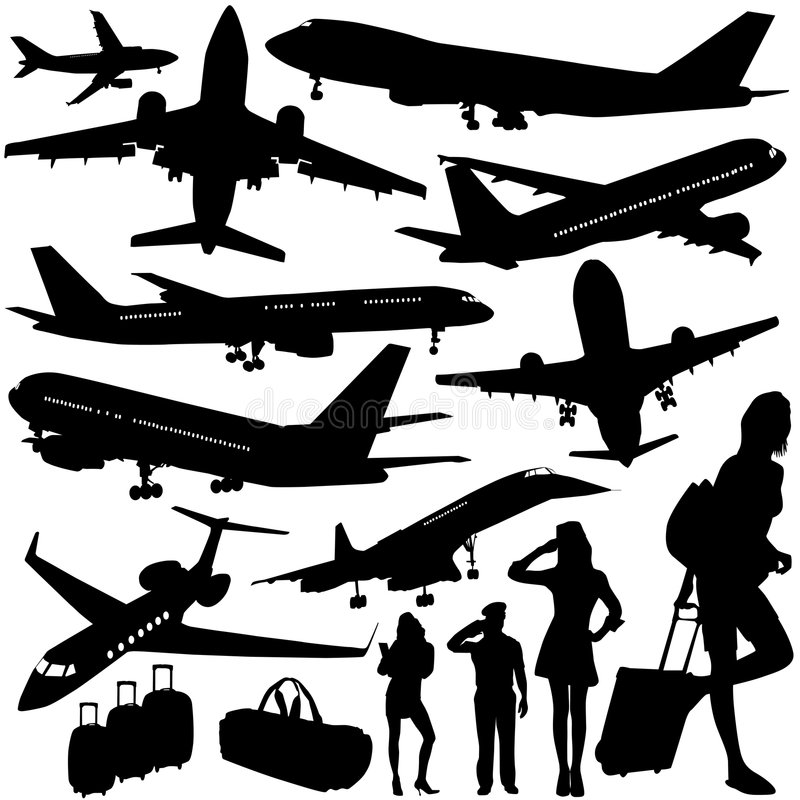 Vector del aeroplano stock de ilustración