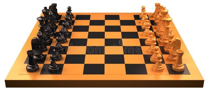 Vector del ajedrez foto de archivo libre de regalías