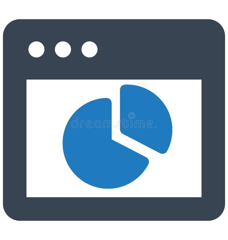 Vector del Analytics relacionado con las ventanas del explorador Web y completamente editable stock de ilustración