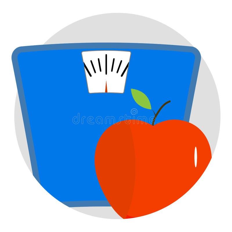 Vector del app del icono de la dieta stock de ilustración