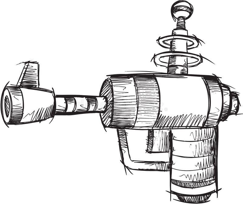 Vector del arma del garabato ilustración del vector