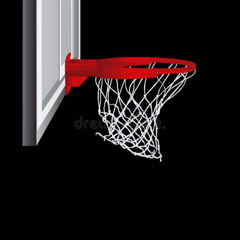 Vector del aro de baloncesto stock de ilustración