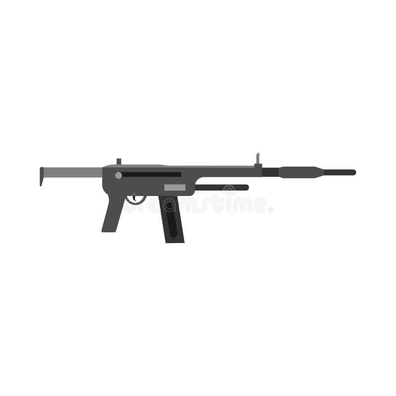 Vector del arsenal de la protección del símbolo del equipo del arma Icono militar de la violencia del poder negro ilustración del vector