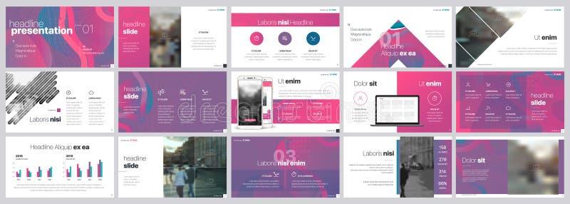 Vector del asunto de la presentación Template Elementos de la pendiente para las presentaciones de diapositivas en un fondo blanc libre illustration