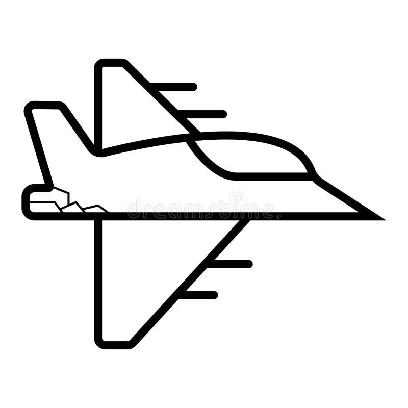 Vector del avión de combate del vuelo stock de ilustración