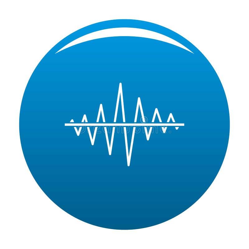 Vector del azul del icono de la radio de la voz del equalizador ilustración del vector