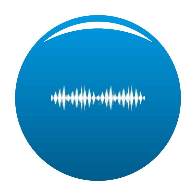 Vector del azul del icono de la voz del equalizador stock de ilustración